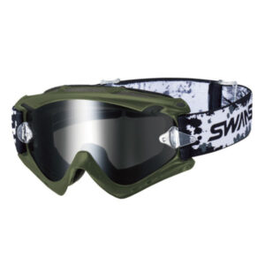 [SWANS] Adults MX-RUSH-M Dirt Motocross Goggles Mirror Type (Made in Japan)