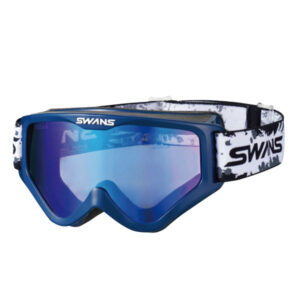 [SWANS] Adults MX-797-M DBL Glasses compatible dirt motocross goggles mirror type (Made in Japan)